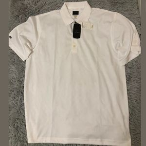 Greg Norman Men's Shark Logo Play Dry Golf Polo